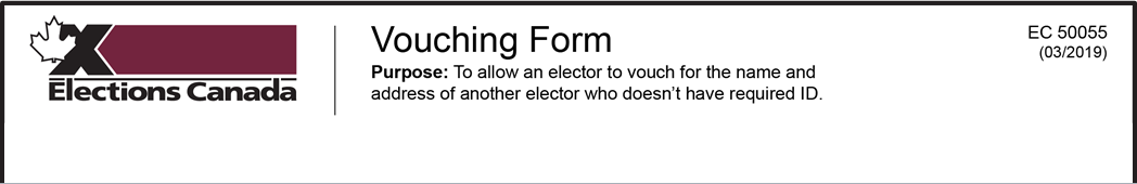 Vouching Form