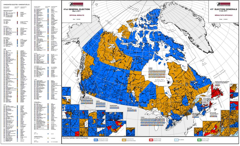 Elections Canada Map Map of | Elections Canada Online