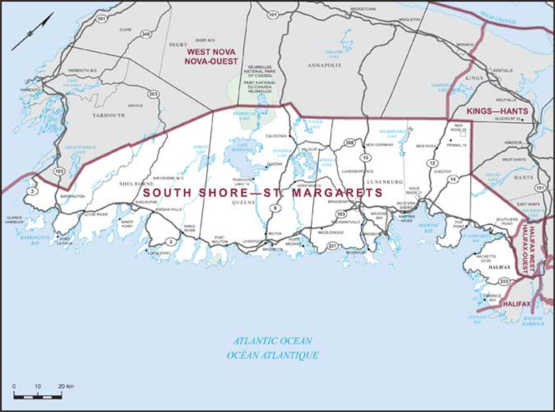South Shore–St  Margarets | Maps Corner | Elections Canada Online
