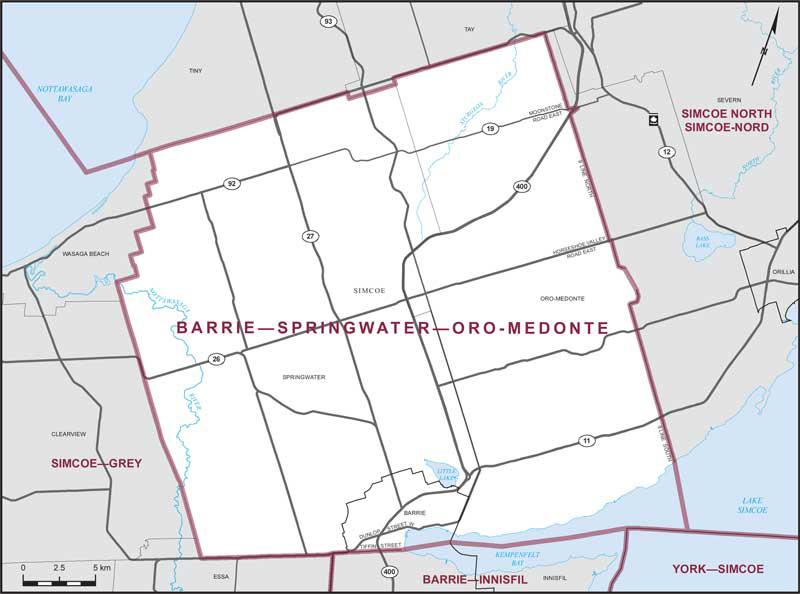 Oro Medonte Canada Map Barrie–Springwater–Oro Medonte | Maps Corner | Elections Canada Online