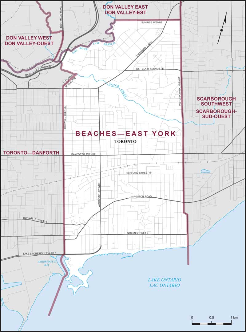 Map Of York Canada.Beaches East York Maps Corner Elections Canada Online