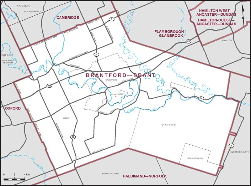 Map Of Brantford Brantford–Brant | Maps Corner | Elections Canada Online Map Of Brantford