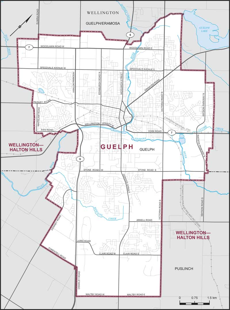 Map Of Guelph Guelph | Maps Corner | Elections Canada Online