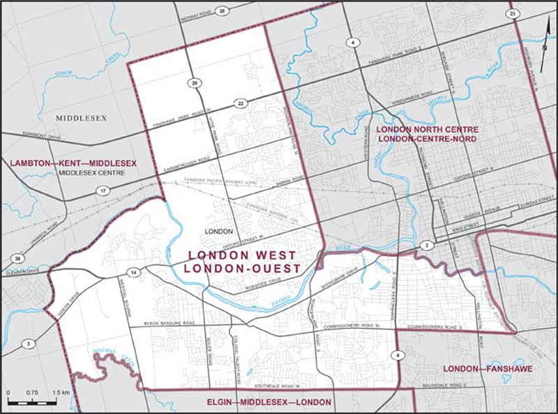 Map North West London.London West Maps Corner Elections Canada Online