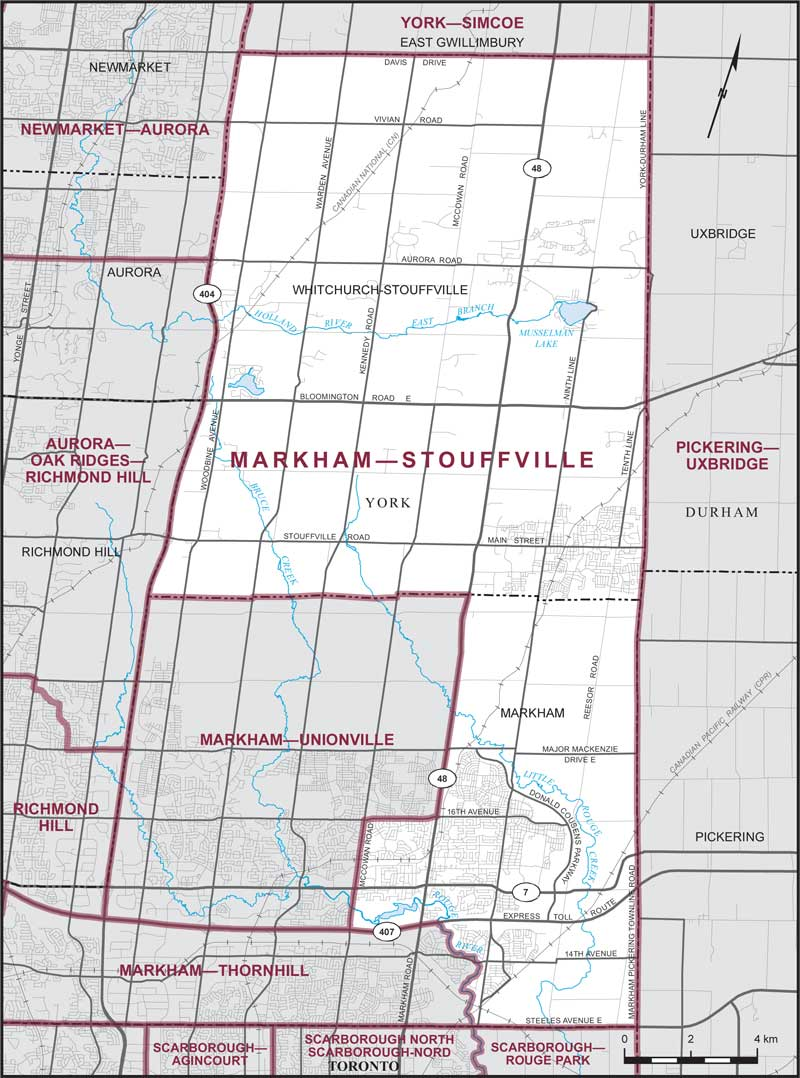 Map Of Stouffville Ontario Canada Markham–Stouffville | Maps Corner | Elections Canada Online