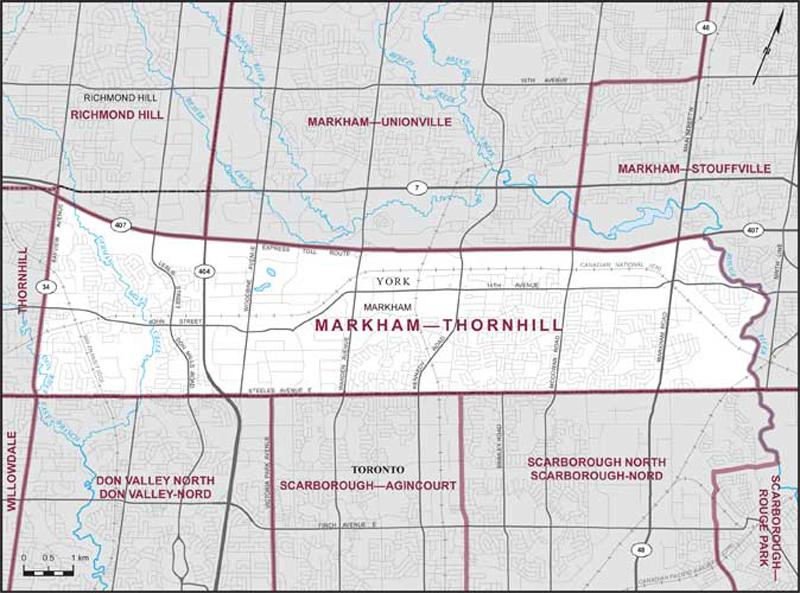 Map Of Markham Markham–Thornhill   Maps Corner   Elections Canada Online Map Of Markham