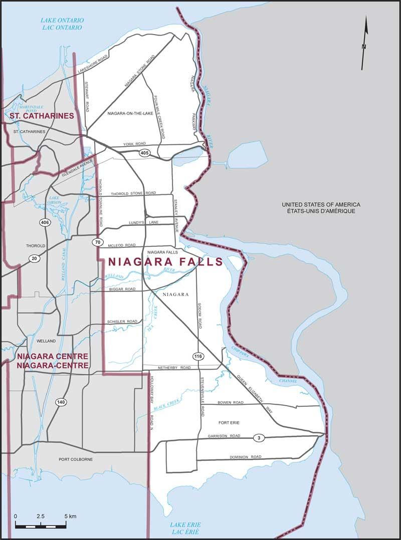 Niagara Falls Maps Corner Elections Canada Online