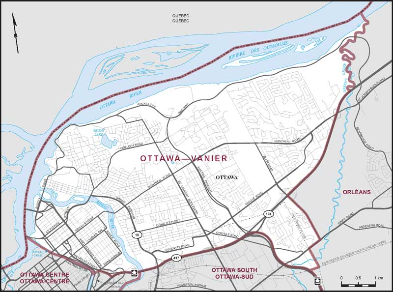 Ottawa On Map Of Canada.Ottawa Vanier Maps Corner Elections Canada Online