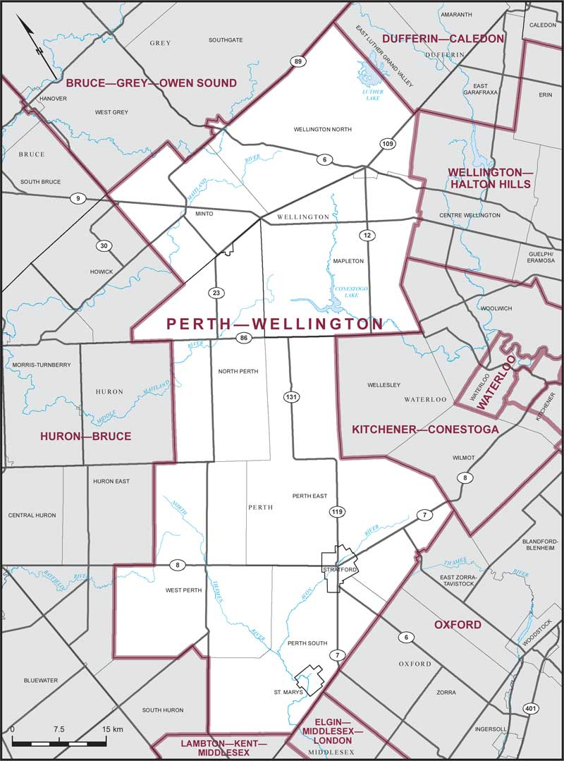 Map Of Perth Canada Perth–Wellington | Maps Corner | Elections Canada Online