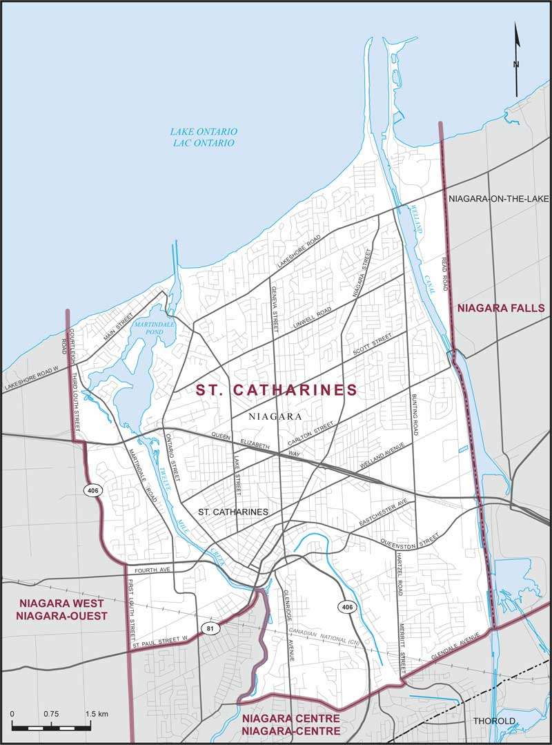 Map Of St Catharines St. Catharines | Maps Corner | Elections Canada Online Map Of St Catharines