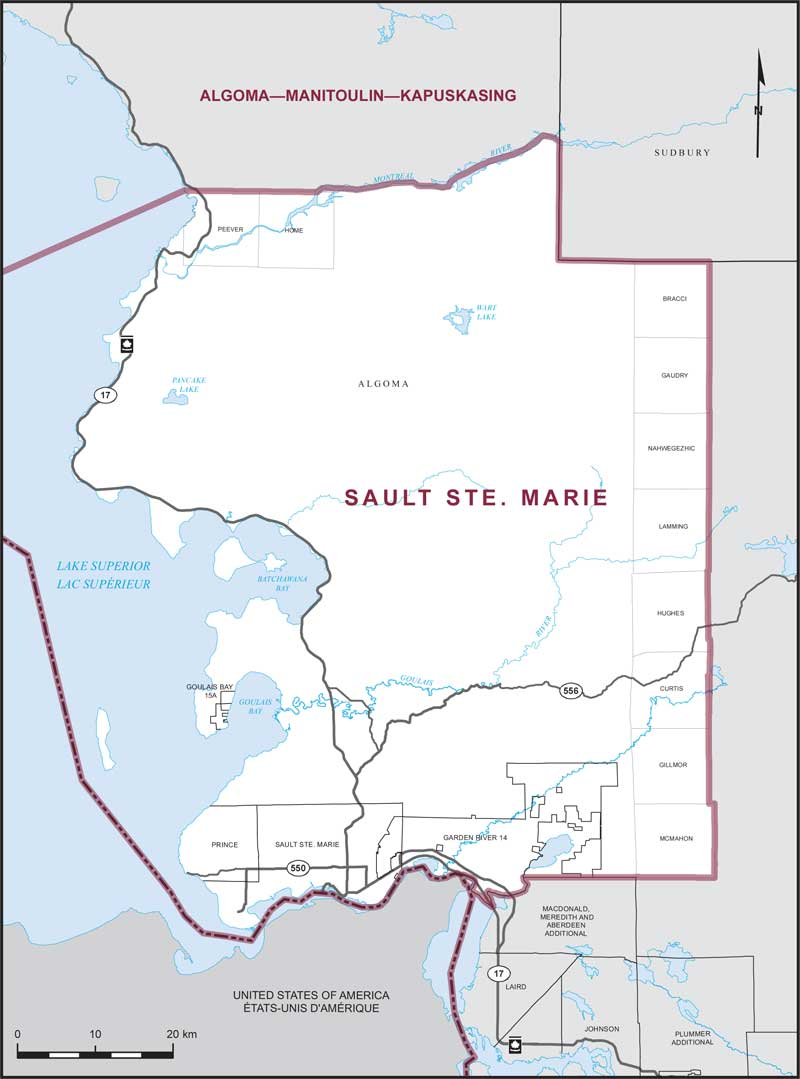 Map Of Sault Ste Marie And Surrounding Area Sault Ste. Marie | Maps Corner | Elections Canada Online