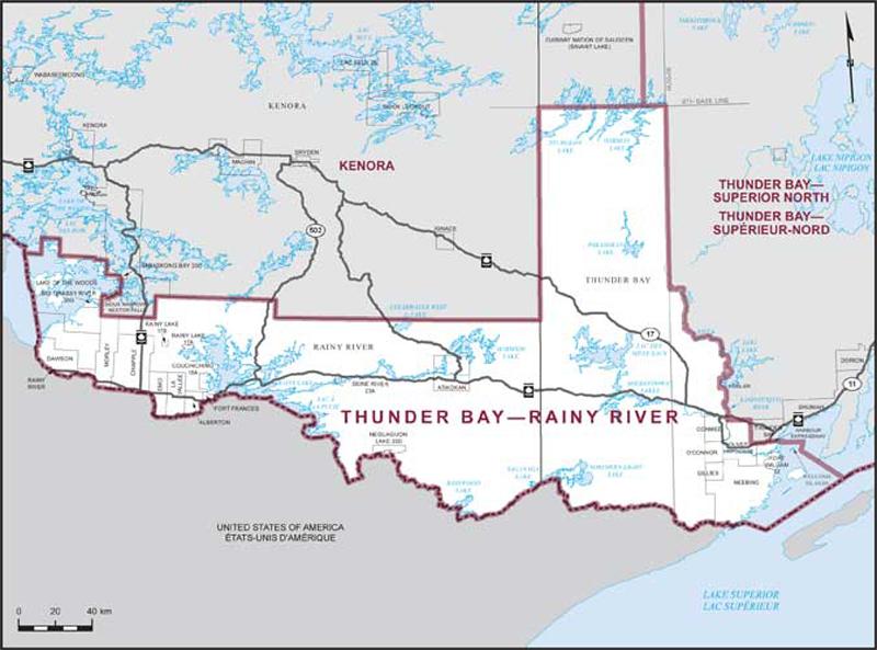 Thunder Bay–Rainy River | Maps Corner | Elections Canada Online