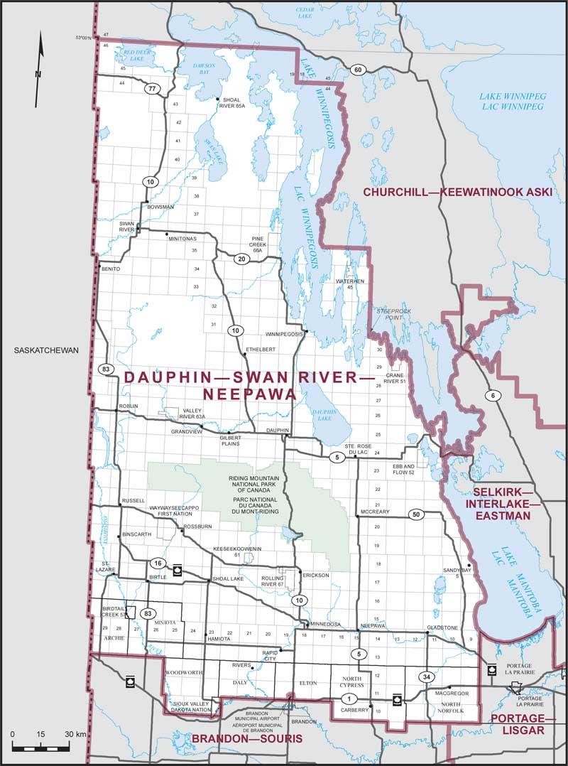 Map Of Neepawa Manitoba Canada Dauphin–Swan River–Neepawa | Maps Corner | Elections Canada Online