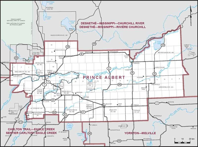 Prince Albert Map Prince Albert | Maps Corner | Elections Canada Online