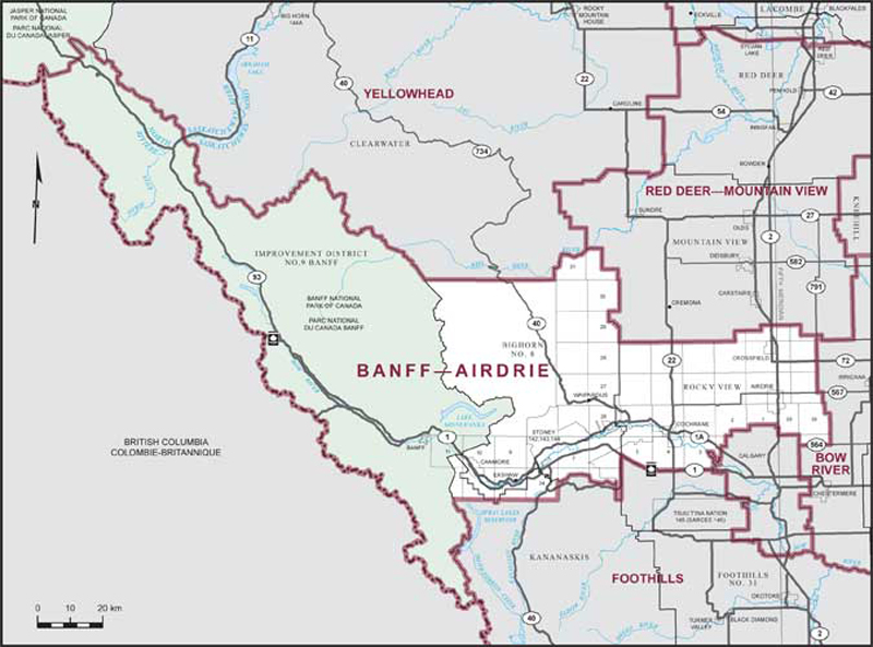 Map Of Canada Banff.Banff Airdrie Maps Corner Elections Canada Online