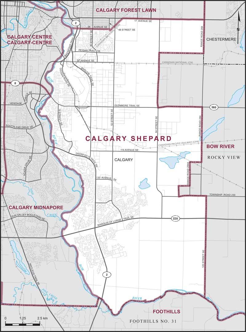 Calgary Shepard | Maps Corner | Elections Canada Online on