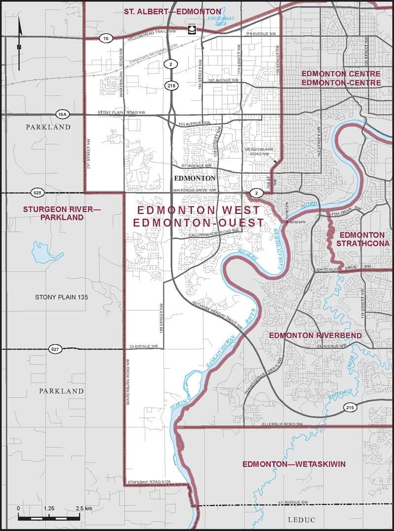 Maps Edmonton Ca Edmonton West | Maps Corner | Elections Canada Online
