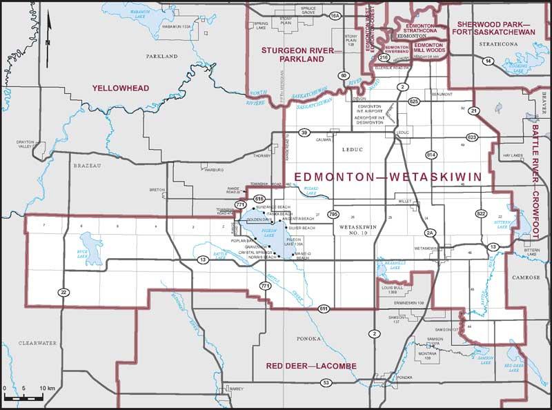 Maps Edmonton Ca Edmonton–Wetaskiwin | Maps Corner | Elections Canada Online