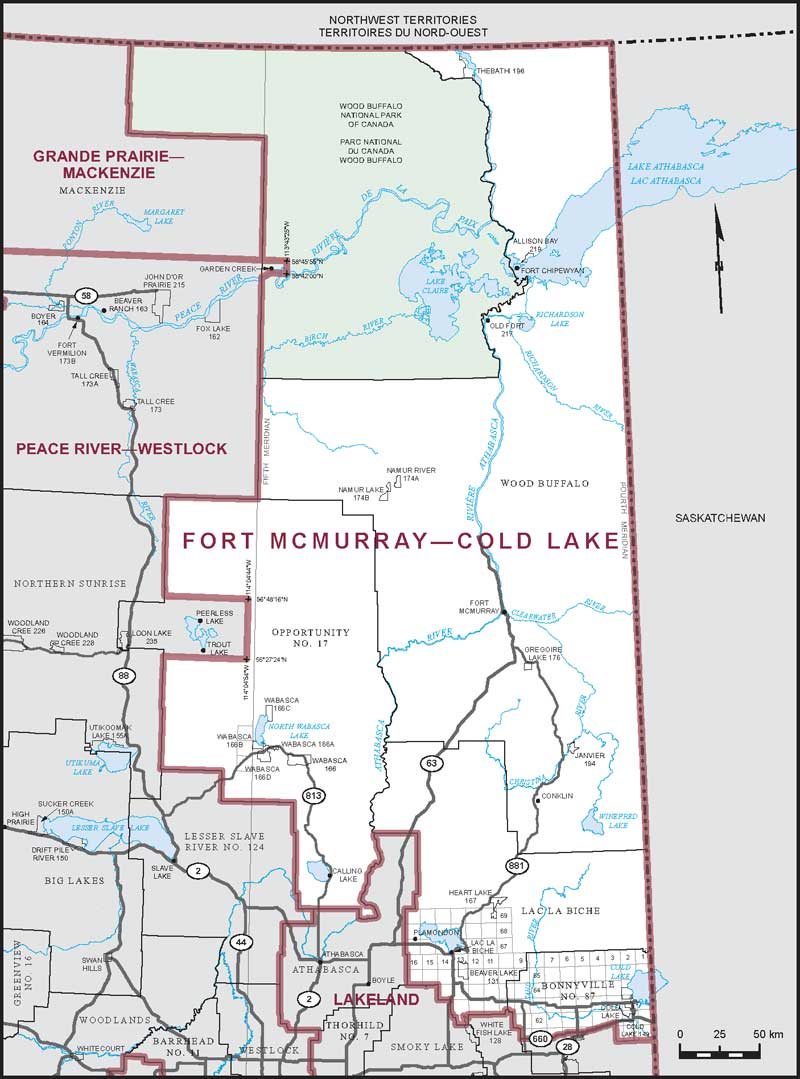 Fort Mcmurray Map Fort McMurray–Cold Lake | Maps Corner | Elections Canada Online Fort Mcmurray Map