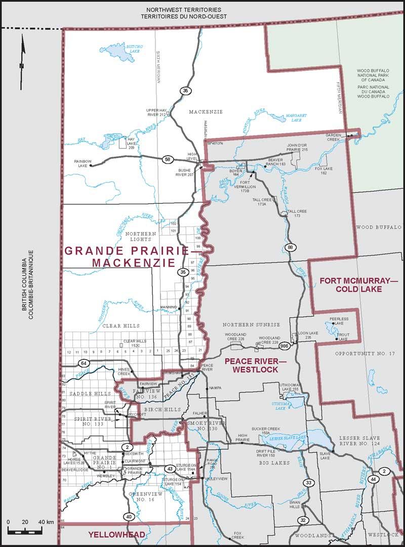 Grande Prairie Alberta Canada Map Grande Prairie–Mackenzie | Maps Corner | Elections Canada Online