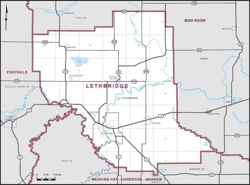 Lethbridge Alberta Map Lethbridge | Maps Corner | Elections Canada Online