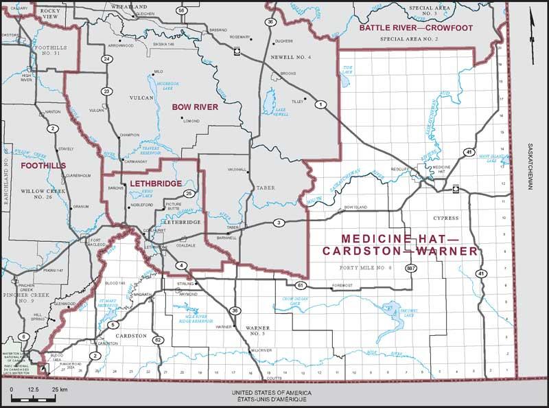 Cardston Canada Map Medicine Hat–Cardston–Warner | Maps Corner | Elections Canada Online