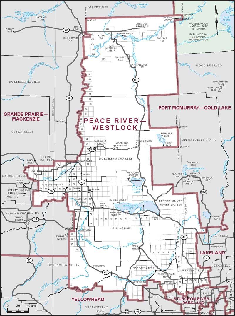 Westlock County Map Peace River–Westlock | Maps Corner | Elections Canada Online Westlock County Map