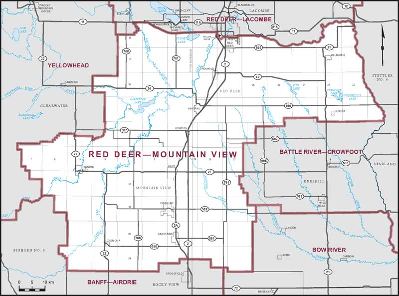 Red Deer Map Red Deer–Mountain View | Maps Corner | Elections Canada Online Red Deer Map