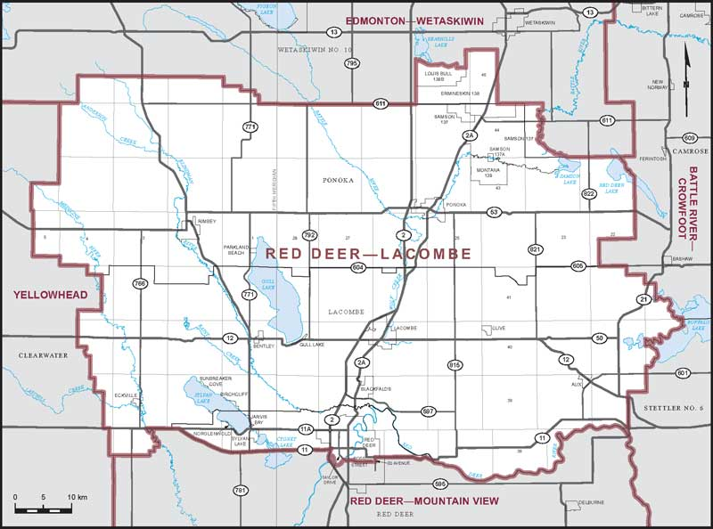 Red Deer Map Red Deer–Lacombe | Maps Corner | Elections Canada Online Red Deer Map