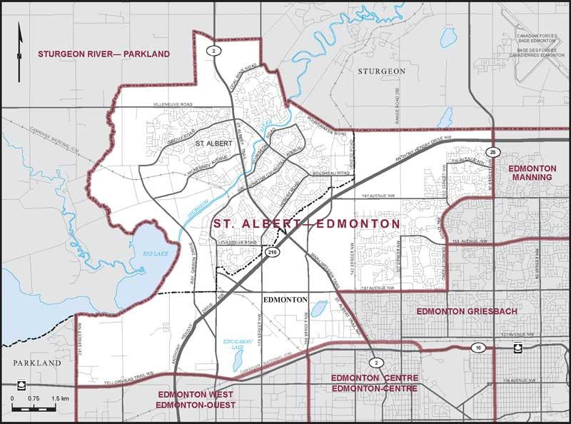 St Albert Map St. Albert–Edmonton | Maps Corner | Elections Canada Online