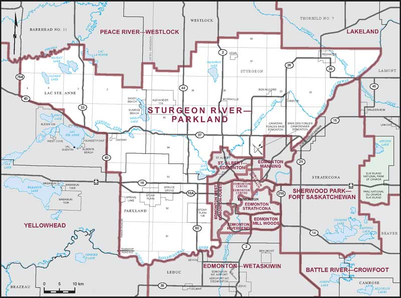 Sturgeon County Map Sturgeon River–Parkland | Maps Corner | Elections Canada Online
