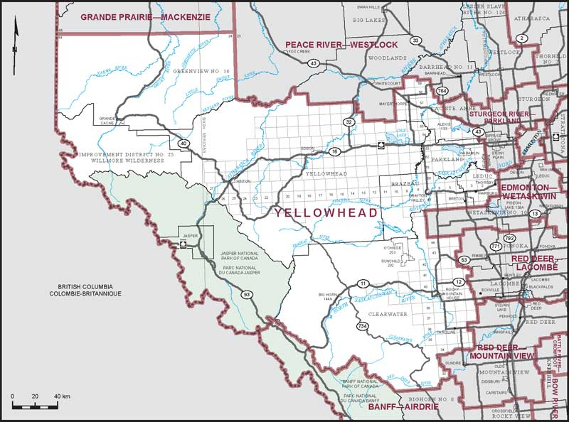 Yellowhead County Map Yellowhead | Maps Corner | Elections Canada Online