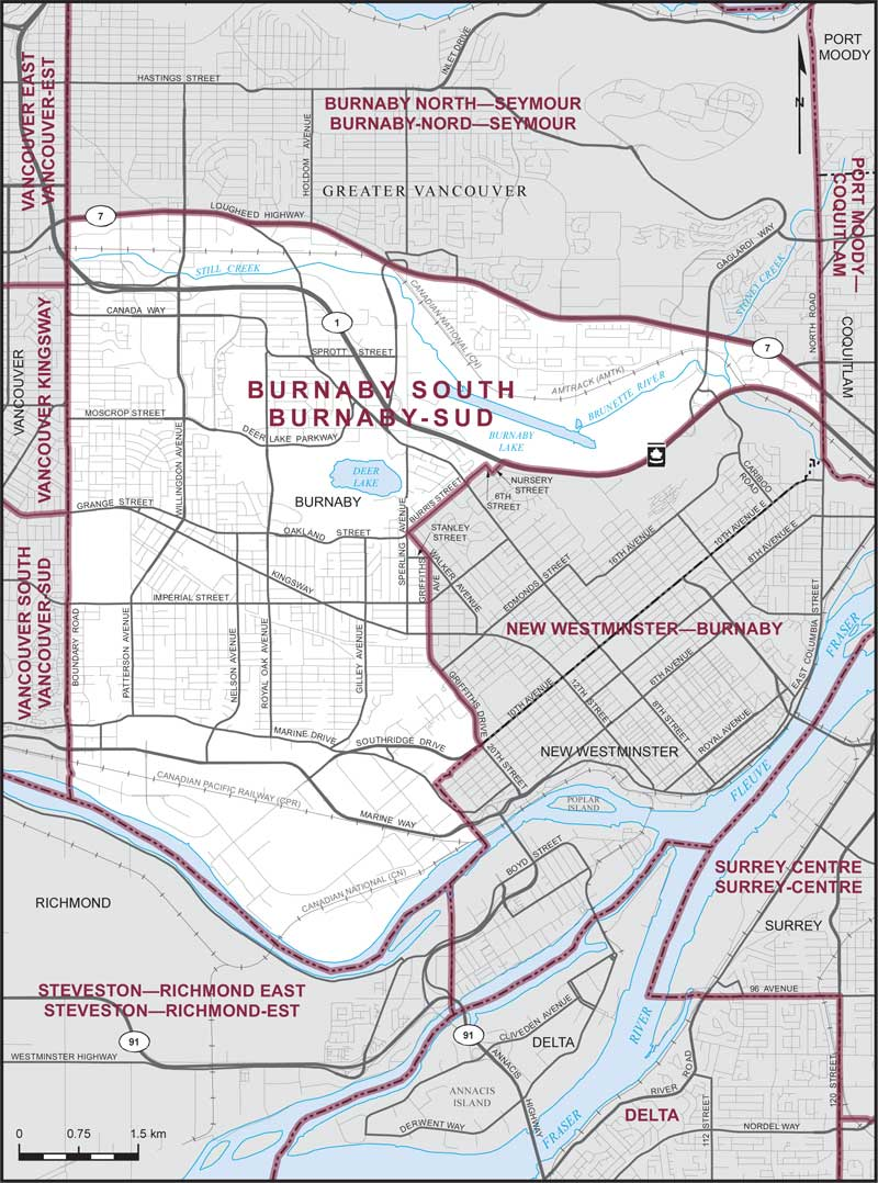 Map Of Burnaby Burnaby South | Maps Corner | Elections Canada Online Map Of Burnaby