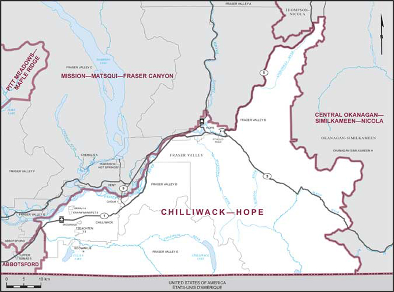 City Of Chilliwack Maps Chilliwack–Hope | Maps Corner | Elections Canada Online