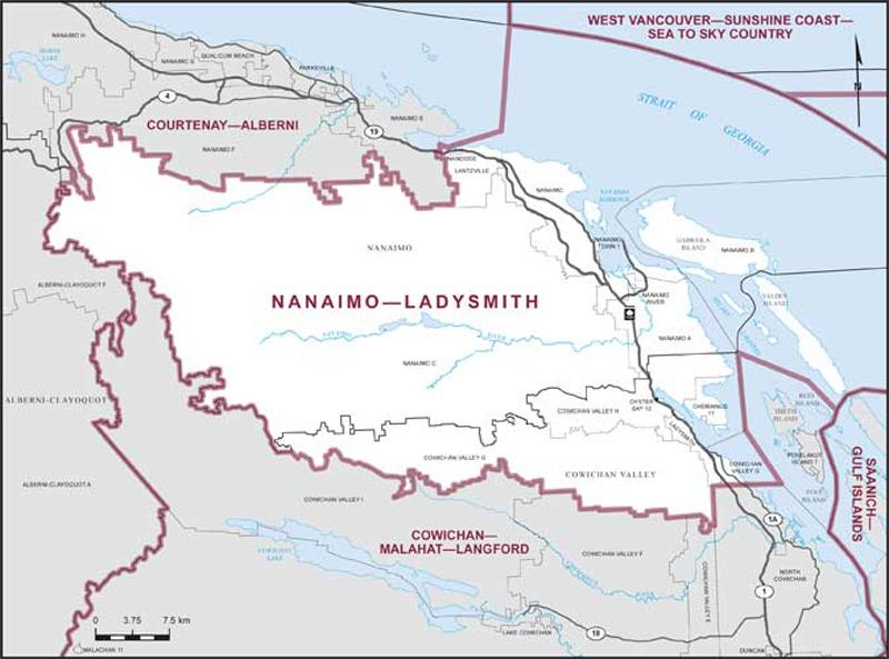 Map Of Canada Trackidsp 006.Nanaimo Ladysmith Maps Corner Elections Canada Online