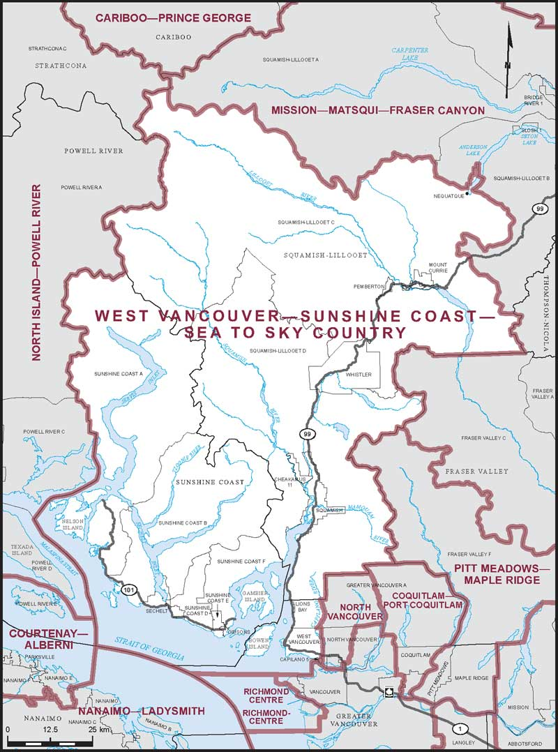 Map Of West Vancouver Bc Canada West Vancouver–Sunshine Coast–Sea to Sky Country   Maps Corner