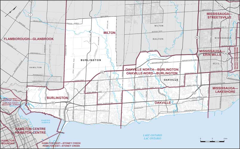 Map Of Oakville Ontario City of Burlington and Town of Oakville | Maps Corner | Elections