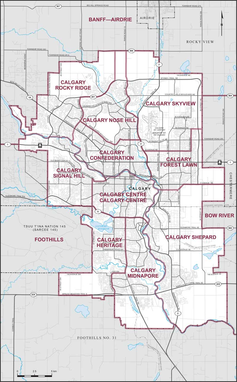 City Of Calgary Map City of Calgary | Maps Corner | Elections Canada Online