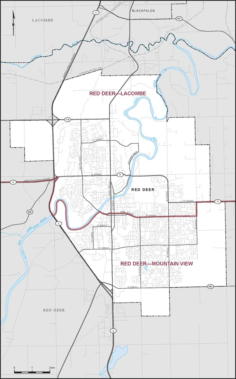 Map Of Red Deer Alberta City of Red Deer | Maps Corner | Elections Canada Online