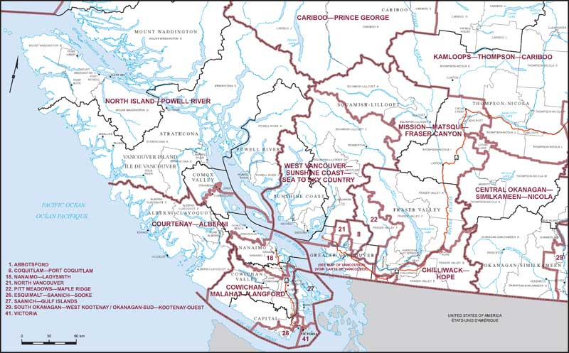 Southern British Columbia (Map 1) | Maps Corner | Elections ...