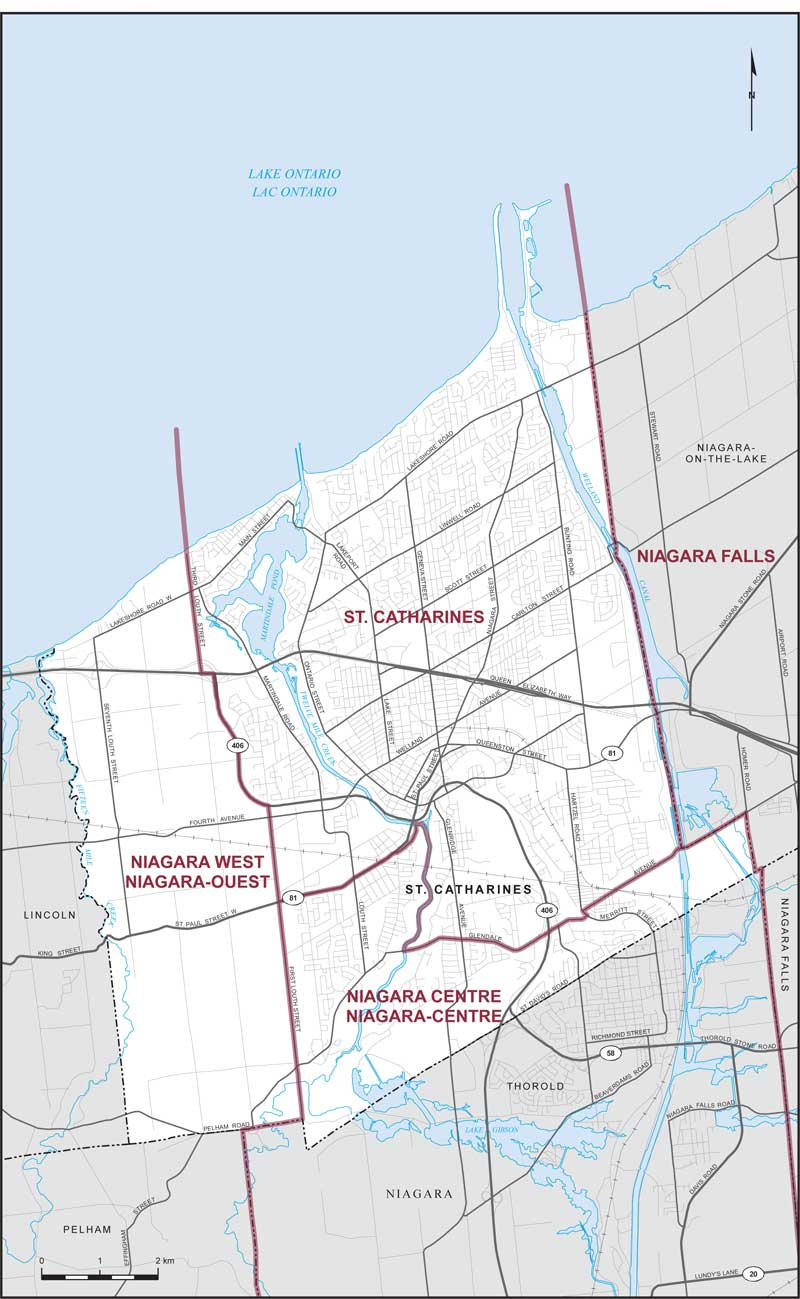 Map Of St Catharines Ontario City of St. Catharines | Maps Corner | Elections Canada Online