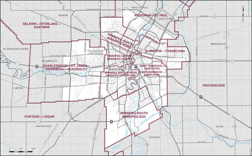 City Of Winnipeg Map City of Winnipeg | Maps Corner | Elections Canada Online