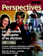 Perspectives électorales : Avril 2004