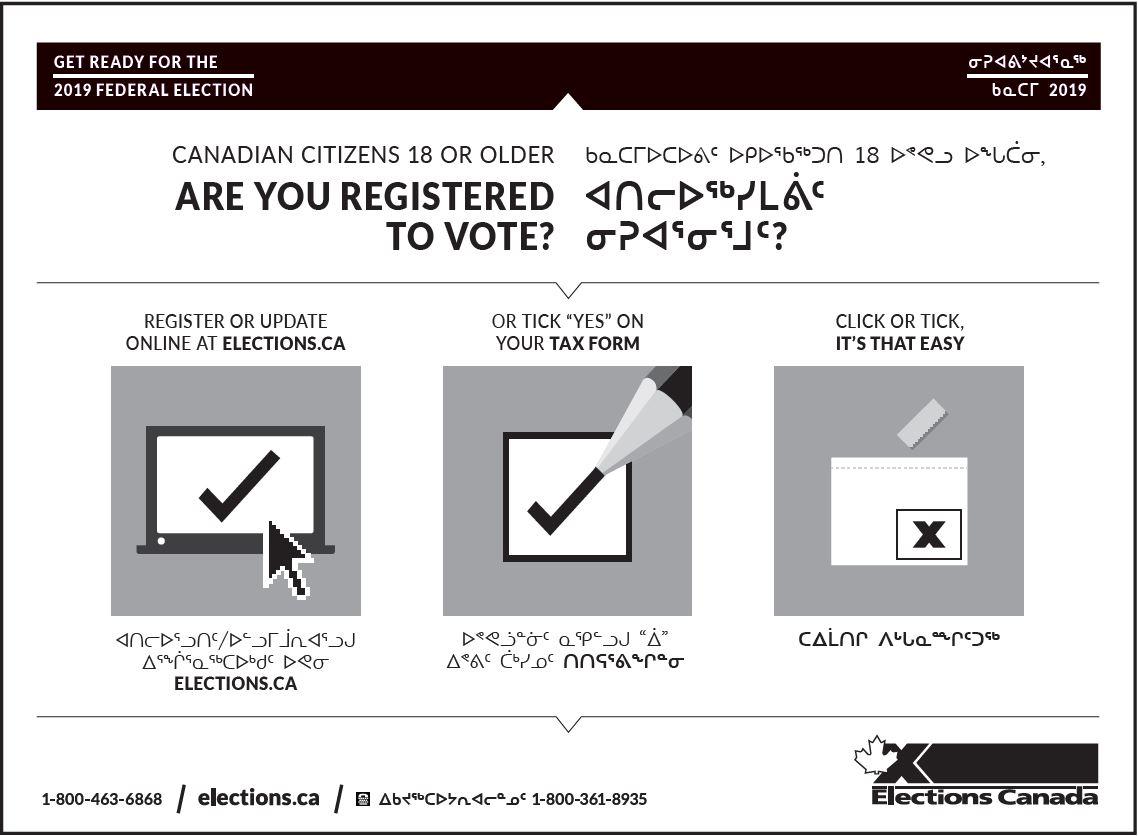 Elections Canada Online   Register via Canadian Revenue