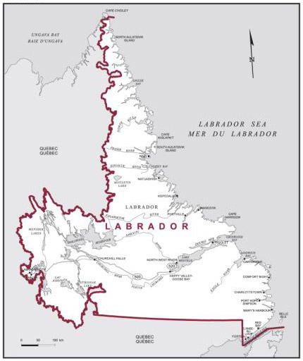 Carte de la circonscription du Labrador