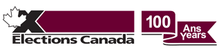 Logo of Elections Canada for the 100th anniversary / Logo d'Élections Canada pour le 100e anniversaire