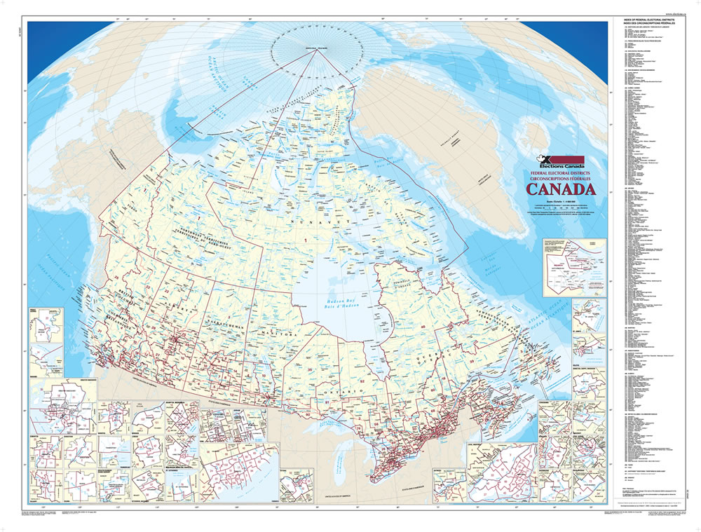 map of canada large map