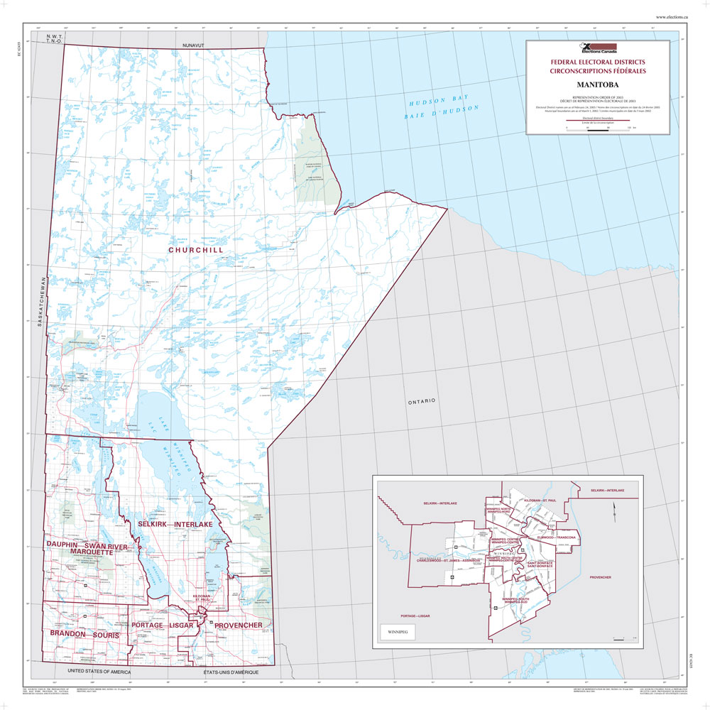 Map Of Manitoba Elections Canada Online - Map of manitoba