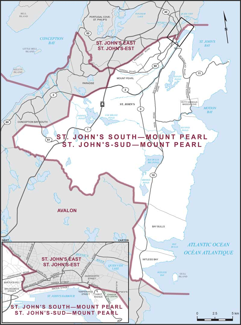 St John S South Mount Pearl Maps Corner Elections Canada Online