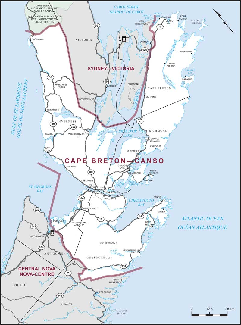 Cape BretonCanso Maps Corner Elections Canada Online